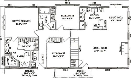 Pinebrook By Wardcraft Homes Ranch Floorplan Floor Plans Ranch Ranch Style Floor Plans Ranch House Plans