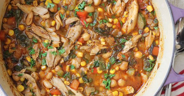 White bean chicken chili, Mom and Protein on Pinterest