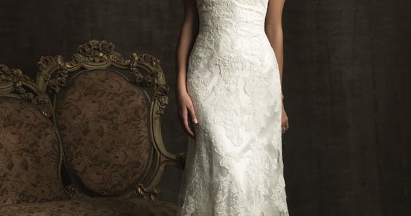 Modest All Lace Vintage Inspired Wedding Dress available in 2012 at Bridal