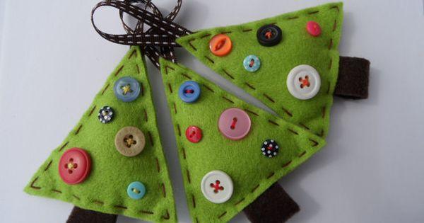 Christmas craft idea - Christmas Tree ornaments