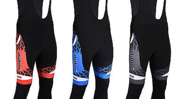 Mens Cycling Bib Tights Thermal Padded Cold Wear Legging Winter Bike Long Pant
