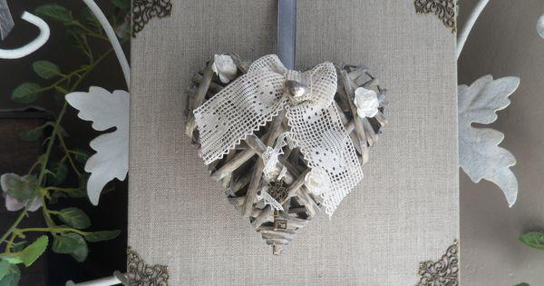 Coeur en osier d cor sur toile d corations murales par for Decoration murale osier