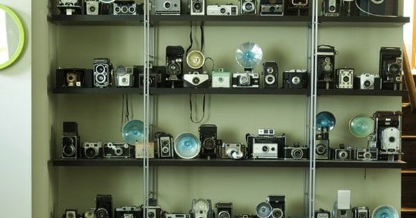 I love collections and this display of camera's really works! Be inspired