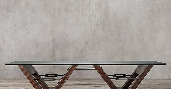 Reclaimed Wood Glass V Form Coffee Table From Restoration Hardware Stagnum House Pinterest