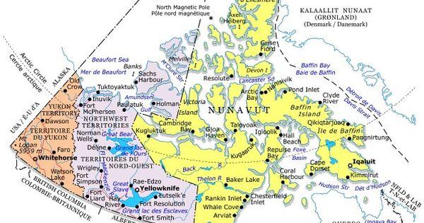 nunavut communities map