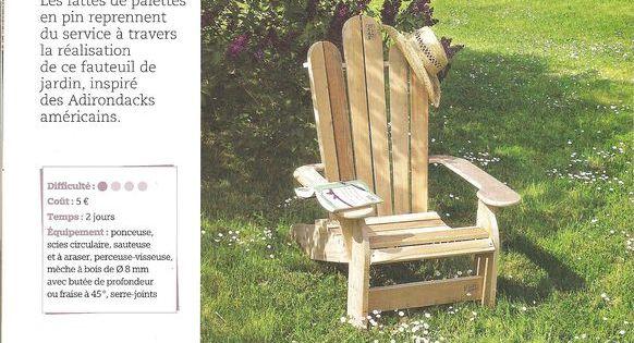 sympa la transformation des palettes en fauteuil style adirondack mais vous pouvez aussi le. Black Bedroom Furniture Sets. Home Design Ideas