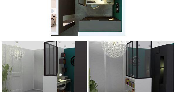 Aménagement dun bureau dans une entrée dun appartement.  Idée ...