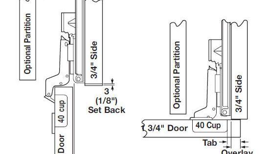 Overlay Application For Frameless Cabinets Hafele Pocket Doors Frameless Cabinets