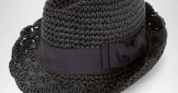 Crochet Straw Fedora, free crochet pattern