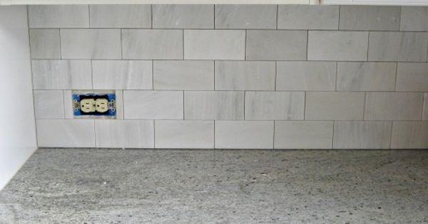 The Tiles Are Hampton Carrara 36 Subway Tile In Satin