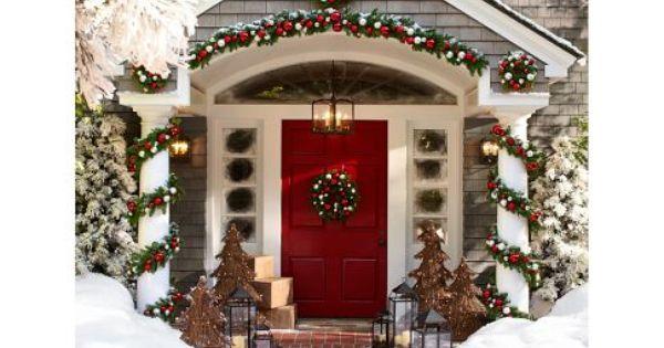Christmas house .... Make This Pottery Barn Inspired Garland.... between naps on