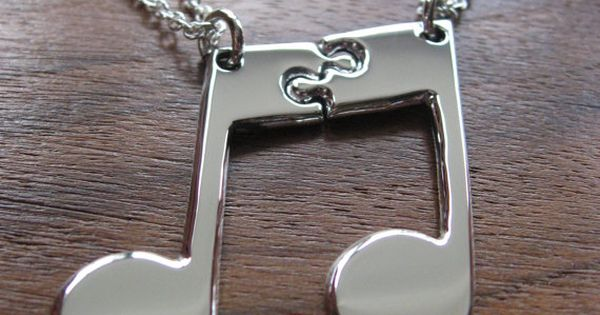Best friend music necklace