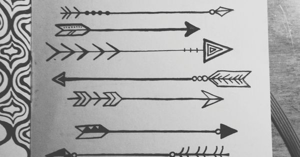 "lauren-salgado: ""Arrows on arrows on arrows. Drawn with microns in my little"