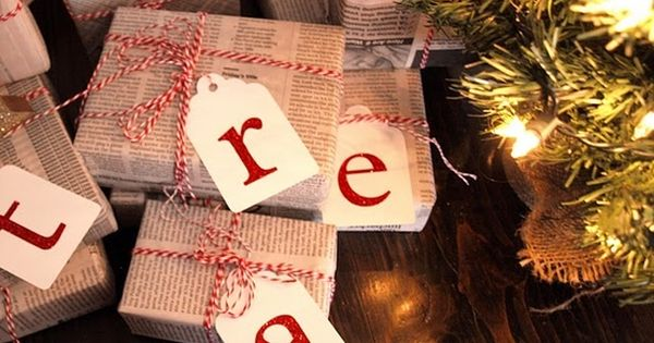 Christmas Gift Wrapping Ideas. My husband has wrapped gifts in newspaper for