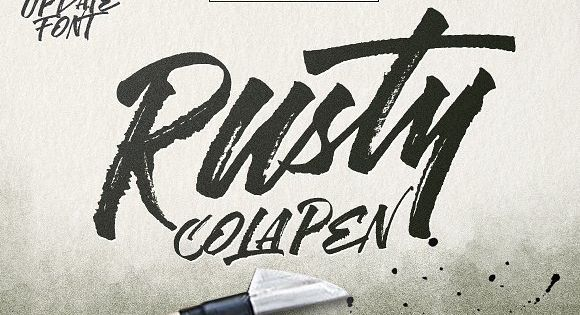 Rusty ColaPen type is hand painted typeface with stunning custom hand-lettering.