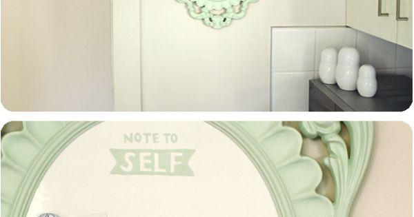 cute white board idea
