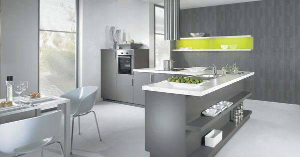 Best Modern Gray Kitchen Cabinets With White Laminate Top 400 x 300