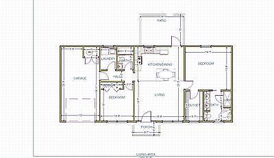 Small House Plan Ready To Build 1 Story 1001 Sf Pl1804cr House Plans Small House Plan Small House