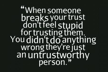 Broken No Trust Quotes