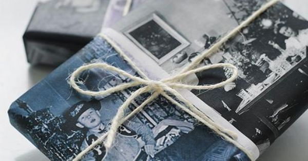 Sweet Paul Holiday: Custom Vintage Photo Giftwrap Scan your old photos and