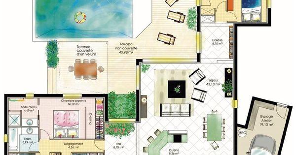 Maison fonctionnelle 1 rez de chauss e plans maison et for Plan maison fonctionnelle