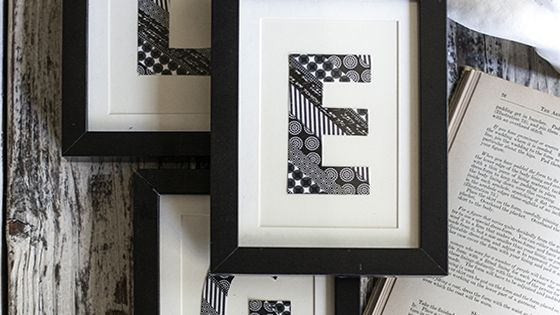 Washi Tape Monogram Wall Art