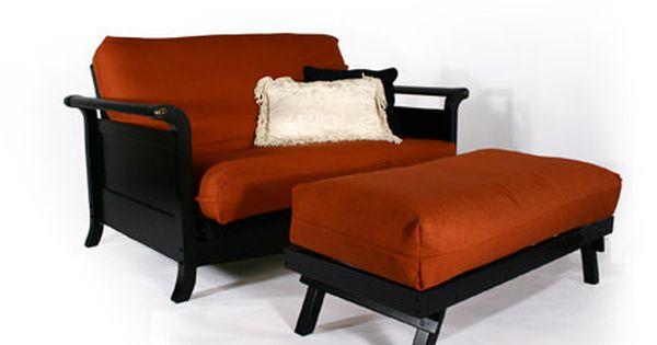 Lexington Dark Cherry Loveseat Wall Hugger Futon Frame By Strata Furniture Futon Leather Futon Futon Sofa