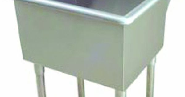 Stainless Steel Laundry Tub With Legs : 118 Utility Sink with Drain, Stainless Steel - Utility Sinks With Legs ...