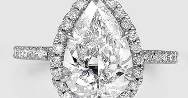 18k White Gold Waverly Diamond Ring 1 2 Ct Tw Tear Drop Engagement Ring Pear Engagement Ring Wedding Rings Sets Gold