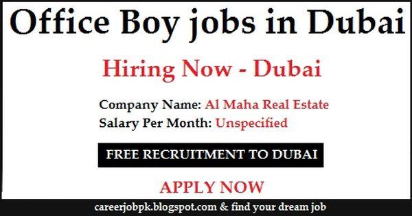 Office Boy Jobs In Dubai For Freshers Online Jobs Job Dubai