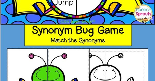 Synonym Bugs! Speech Therapy Games and No Prep Activities ...