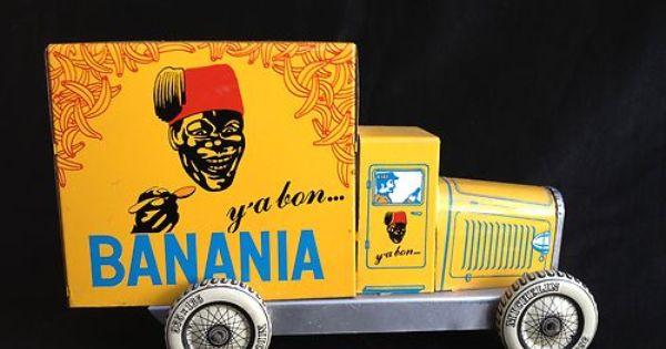 jouet de collection publicitaire banania y 39 a bon en t le marque cr. Black Bedroom Furniture Sets. Home Design Ideas