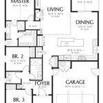 Plano De Casa Con Garaje Y Cuatro Dormitorios Planos De Casas Planos De Casas 3d Planos De Casas Modernas