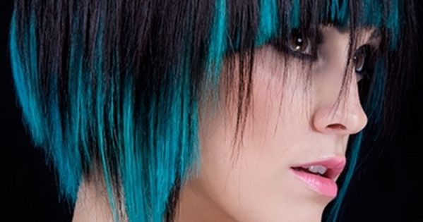 Short Black And Blue Scene Hairstyles For Girl Cool Hair Color Multi Colored Hairstyles That