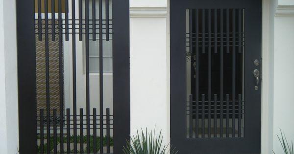 Puerta de herreria minimalista buscar con google for Puerta de herreria