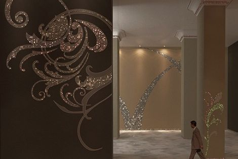 Glitter Wall, Wall Decal, Sparkly Wall, Wall Design