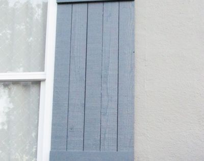 Make Your Own Board And Batten Shutters Outdoor Spaces Pinterest Batten Diy Shutters And