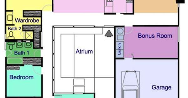 The eichler atrium home a mid century classic palo alto Eichler atrium floor plan