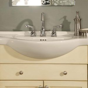 Narrow Depth Bathroom Sink Cabinet With Images Bathroom Vanity Tops Narrow Bathroom Vanities White Vanity Bathroom