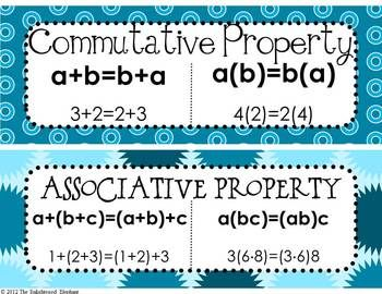 Free Math Properties Of Equality And Real Numbers Posters Math Properties Free Math Homeschool Math