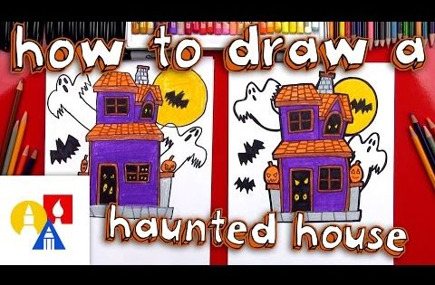 how to draw a haunted house step by step dragoart