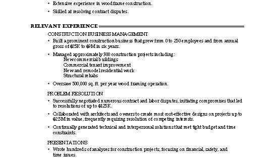 professional resume cover letter sample
