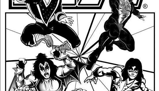 kiss band coloring pages | Kiss coloring book page! | KISS STUFF | Pinterest | Kiss ...
