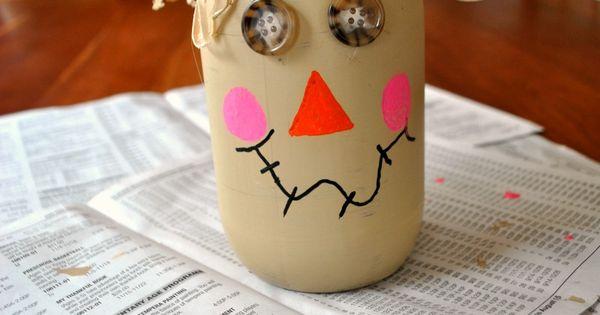Mason Jar Scarecrow- Boy, Oh Boy, Oh Boy Crafts