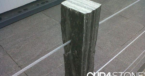 Les piquets verticales en ardoise naturelle peuvent tre for Espaces paysagers