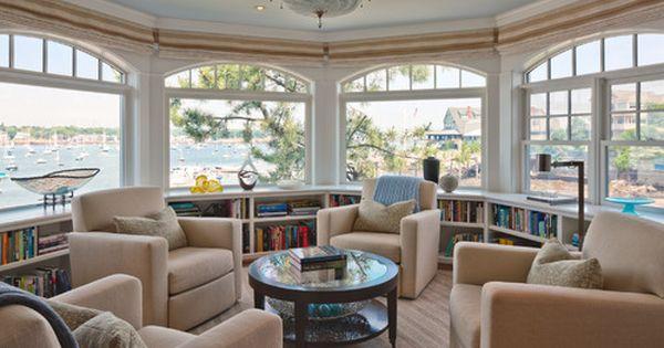 Sea Glass Traditional Waterfront Residence Ma Siemasko Verbridge Sunroom Designs Home House Design