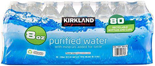 Kirkland Signature Premium Drinking Water 8 Oz 80 Count Learn