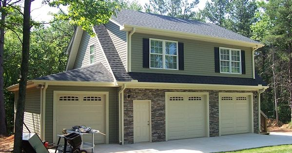 3 car garage with full apartment garage pinterest 3 for 3 bay garage with apartment