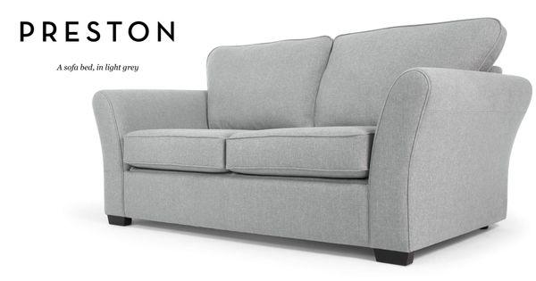 Preston Sofa Bed In Light Grey Bed Lights Preston And Grey