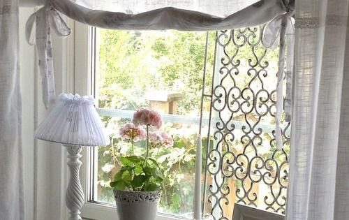 shabby window treatments simply chic window treatment. Black Bedroom Furniture Sets. Home Design Ideas